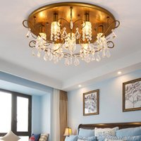 advance mounting - led chandelier crystal lights North European country fashion creative luxurious for dining room bedroom advanced iron crystal lamps