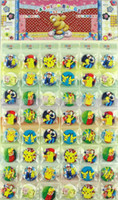 b sets - Children Poke Pokémon go Badge Brooch toys set cartoon Pikachu Charmander Jeni turtle Poke Brooch toy B