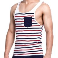 Wholesale Men gym sports wear running vest clothing tank top cotton undershirt gasp sleeveless mens singlets stringer casual