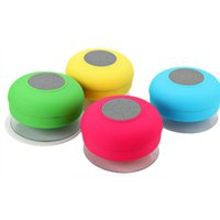 android car music player - Mini Waterproof Speaker Portable Shower Wireless Bluetooth Speaker Subwoofer Car Handsfree Call Music Suction Mic For iOS Android Phone