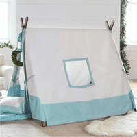 Wholesale Free Love square design blue color kids play tent indian teepee children playhouse children play room teepee
