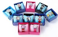 band of boys - 10Pcs Lovely Mixed Of Cartoon Wristwatch Child Kid Analog Quartz Watch Leather Band Boys Girls Womens Watches Gift In Box