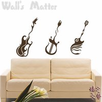 bass cabinet - bass guitar wall stickers decoration decor home decal fashion cute waterproof bedroom living sofa family house glass cabinet