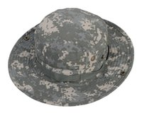 Wholesale Camouflage Hunting Hat - Outdoor Sports Military Fishing Bucket Cap Camping Hiking Wide Brim Camouflage Sun Hat Airsoft Hunting Fishing Cap