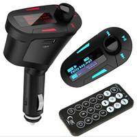 Wholesale Hot Sale Kit Car MP3 Player Wireless FM Transmitter Modulator USB SD MMC LCD with Remote L31122