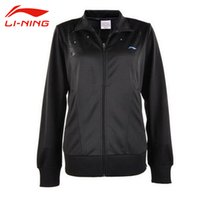 Wholesale LI NING Women Quick Dry Tennis Jacket Li Ning Breathable Solid Turn Down Collar Comfortable Sports Jacket