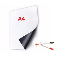 Wholesale A4 Flexible Magnetic Vinyl Whiteboard Fridge Memo Home Office Reminder with Pens mm Thickness White Board mm x mm
