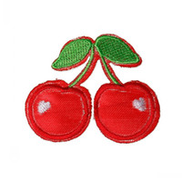 Wholesale Dorabeads Handmade Embroidered Cloth Iron On Patches Appliques Cherry Multicolor cm x cm