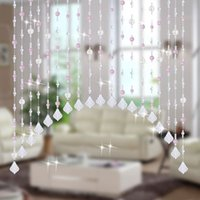 Wholesale Fashion Home Party Decor Living room Window Bedroom Door Crystal Glass Beads Rope Curtain Hanging on Screen Meter Beads