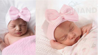 beanie with bow - Fashion Cap Lovely Baby Beanie With Bow Infant Soft Knit Striped Bowknot Caps Baby Toddler Cap M04