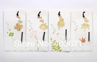 Wholesale New Creative plant amp leaf designs Metal Bookmark Book marks