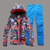 Wholesale Gsou Snow Band Man Skiing Ski Suit Windproof Waterproof Snowboard Outdoor Wear Super Warm Ski Jacket Pants Outdoor Wear Clothing