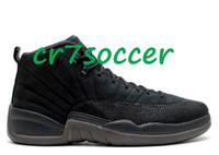 venda por atacado men shoes footwear-retro atacado 12 OVO sapatos de basquetebol preto homens 12 retro asas de calçados esportivos XII 12s jogo gripe tênis Athletic o frete grátis mestre