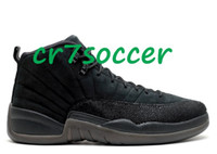 Wholesale retro OVO black Basketball shoes men retro XII s flu game sports footwear wings Athletic sneakers the master