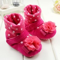 beautiful steps - New baby warm winter boots soft bottom months soft bottom baby steps shoes beautiful flowers girl casual boot pair B3