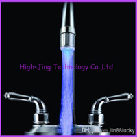 battery sensor faucet - Best selling New Fashion Colorful Water Glow Tap LED Faucet Light Temperature Sensor no battery led faucet lights