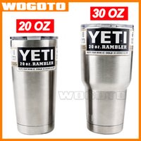 Wholesale Hot Bilayer Stainless Steel Insulation Cup OZ YETI Rambler Cups Cars Beer Mug Large Capacity Mug Tumblerful