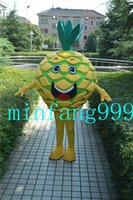 Wholesale 2016 High quality Ananas Mascot Costume Yellow Fruit Fancy Dress Adult Size Delicious Pineapple Costumes Halloween Party Outfits