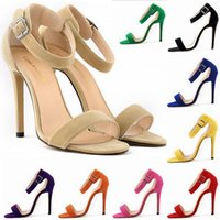 Wholesale Sapato Feminino Party Sexy High heeled Women s Shoes Fashion Sandals Ultra thin Models Roman Sandals Big Size D0037