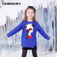 Wholesale Beauty head Girls Sweater for kids Winter children Sweater Baby Girl Clothes infant sweater