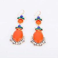 big dangle earrings orange - Fluorescent orange big name model elegant earrings drop earring women earring Amercia Style Jewelry for Party