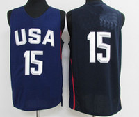 Wholesale 2016 USA Dream Team Jersey White Basketball Jerseys High Quality Men Sports wear embroidered NAME Logos Cheap sports shirts