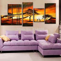 abstact oil painting - Special Design SET Picture Handmade Modern Abstact Oil Painting On Canvas Wall Art Top Home Decoration TH162