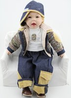 Wholesale Handmade Reborn Baby Doll Vinyl Silicone inch cm Babies Doll Lifelike Baby Dolls Toys Boy for Children Gift