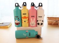 Wholesale Outdoor Portable Sports Bicycle Water bottle Lovely Animal Aluminum Alloy camping hiking water bottle