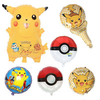 Wholesale Poke go Pikachu Balloons Style Children Kids Poke Ball Pokeball Birthday Party Decoration Balloons Halloween Balloon Toys Gift