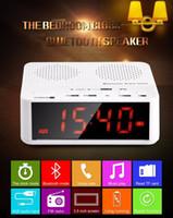 alarm clock radio phone combination - The Multifunctional Bluetooth Speaker Mini Portable Wireless Amplifier FM Radio LED Alarm Clock Wireless For Mobile Phone