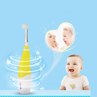 baby vibration - Seago SG Professional seago child baby sonic electric toothbrush intelligent vibration with LED light and smart reminder Heads