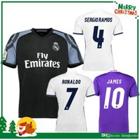 Wholesale Real Madrid home white and purple Real Madrid away black men single second away shirt season new T shirt can be printed at any size