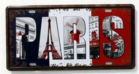 Wholesale Vintage Tin Sign PARIS Creative Fantasy Metal Art Poster Decor Pub Bar Home Wall x30cm