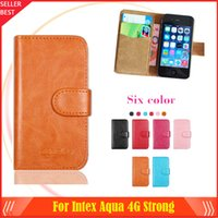 aqua smartphone - New arrrive Colors Intex Aqua G Strong Phone Case Dedicated Leather Protective Cover Case SmartPhone with Tracking