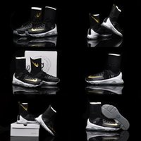 beach high heels - With SHOES Box Kevin Durant KD VIII Elite High Black Gold White Men Shoes