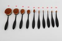 big eyeshadow - New Tech Toothbrush Kabuki Makeup Brush Eyeshadow Brush Oval Make Up Brushes Beauty Tools Big Makeup Brushes Black