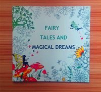 Wholesale 2016 Hottest cm Adult Coloring Books An Inky Treasure Hunt Fairy Tales and Magical Dreams cm pages Drawing Books