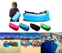 Cheap 2016 New Lamzac Hangout Fast Inflatable Lounger Air Sleep Camping Sofa KAISR Beach Nylon Fabric Sleeping Bag Bed Lazy Chair ourdoor