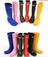 Wholesale 2016 Ms glossy Rain Boots Waterproof Women Wellies Boots Woman Rain Boots High Boot Rainboots Hot Sale