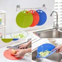 Wholesale Circle plastic chopping board Foldable cutting board food supplement cutting board fruit cut block