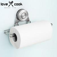 Wholesale Stainless Tissue Holder Vacuum Chuck Tissue Paper Holder Kitchen Roll Paper Towel Holder Paper Towel Dispensers Kitchen Tool
