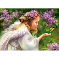beauty cloth butterfly - New needlework diy diamond painting beauty and butterfly cross stitch embroidery diamond home decoration x30cm LE
