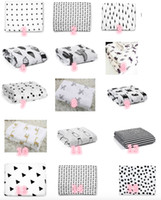 Wholesale 120x120cm Baby blanket envelope for newborn Muslin Swaddle infant Boy Girl Kid Photography Blanket