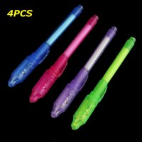 Wholesale UV Light Pen Invisible Ink Security Marker Pen With Ultra Violet LED Blacklight