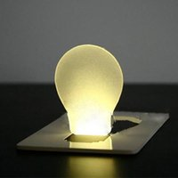 Wholesale Top Quality Portable Pocket LED Card Light Lamp Concept Design Put in Purse Wallet ABS Warm White