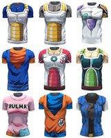 ball compression - Dragon Ball Z Super Saiyan compression t shirts tees Vegeta bick the wu is empty kaka ronaldo anime T shirt t shirt BY DHL