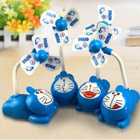 Wholesale Doraemon Clip USB charging fan Travel Portable Mini fan Desktop stroller fan Cartoon creative charging fan