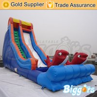 Wholesale Largest Inflatable Double Fish Theme Water Slide Good Quality PVC Material Games