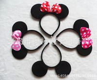 artificial mouse - Mouse ears headband hoop dance festival Children baby headband Christmas birthday party supplies Childrens Headdress